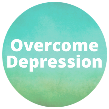 overcome depression button